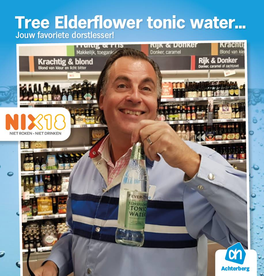 Gek op tonic? Probeer dan eens onze Tree Elderflower tonic water!