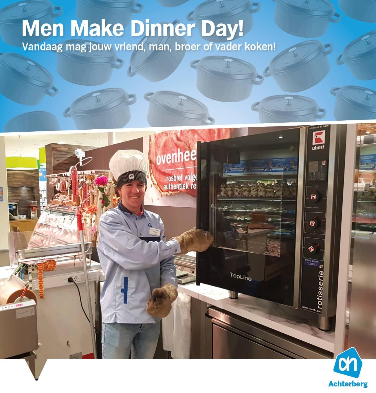 Vandaag is het Men Make Dinner Day!