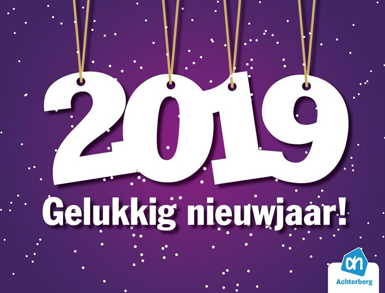 Gelukkig nieuwjaar namens het gehele team van Albert Heijn Achterberg!