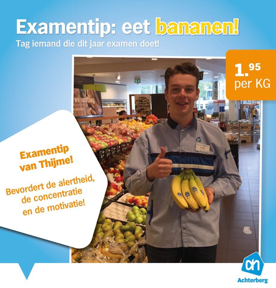 Examenstress? Eet bananen!