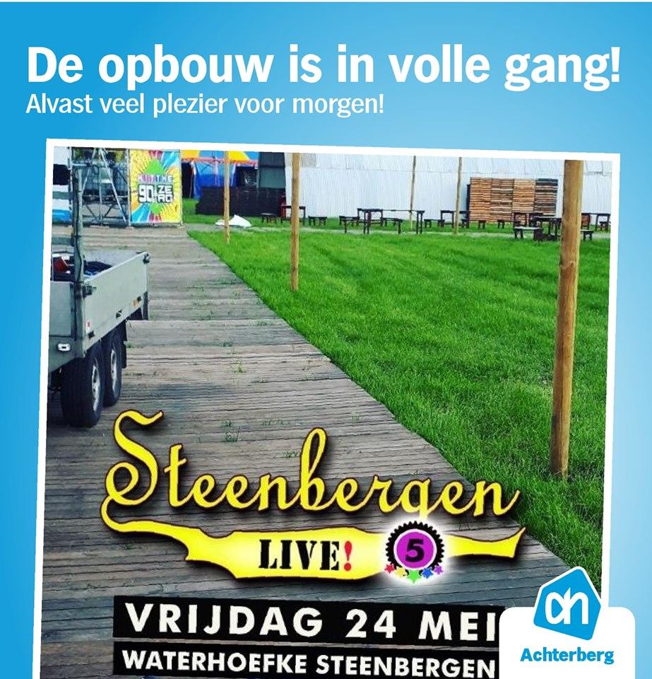 De opbouw voor Steenbergen Live is in volle gang!