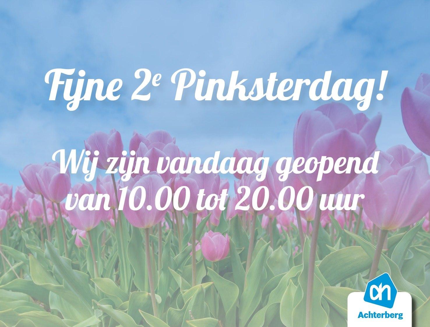 Albert Heijn Achterberg wenst je een fijne 2e Pinksterdag!