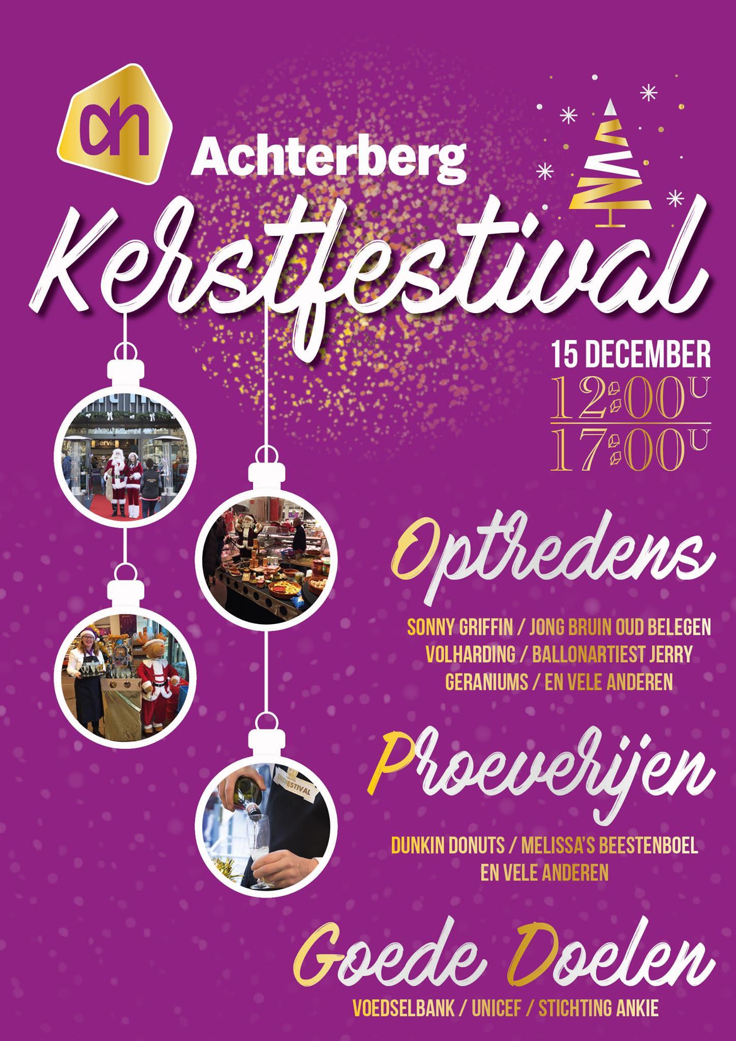 Kom zondag naar het jaarlijkse kerstfestival!