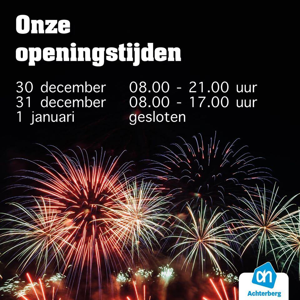 Let op onze aangepaste openingstijden met Oud & Nieuw!