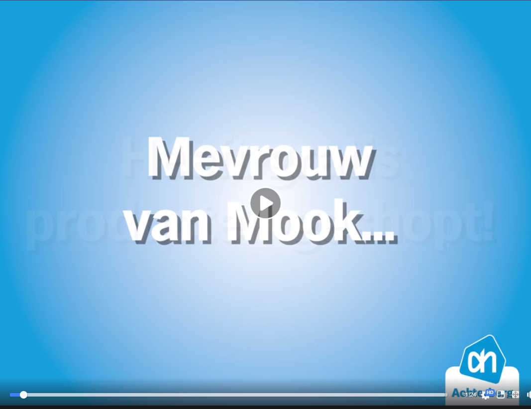Mevrouw van Mook, gefeliciteerd met deze gratis boodschappen!