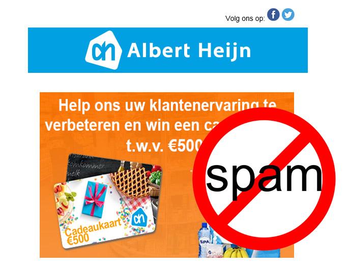 Belangrijk: Pas op voor nepmails uit naam van Albert Heijn