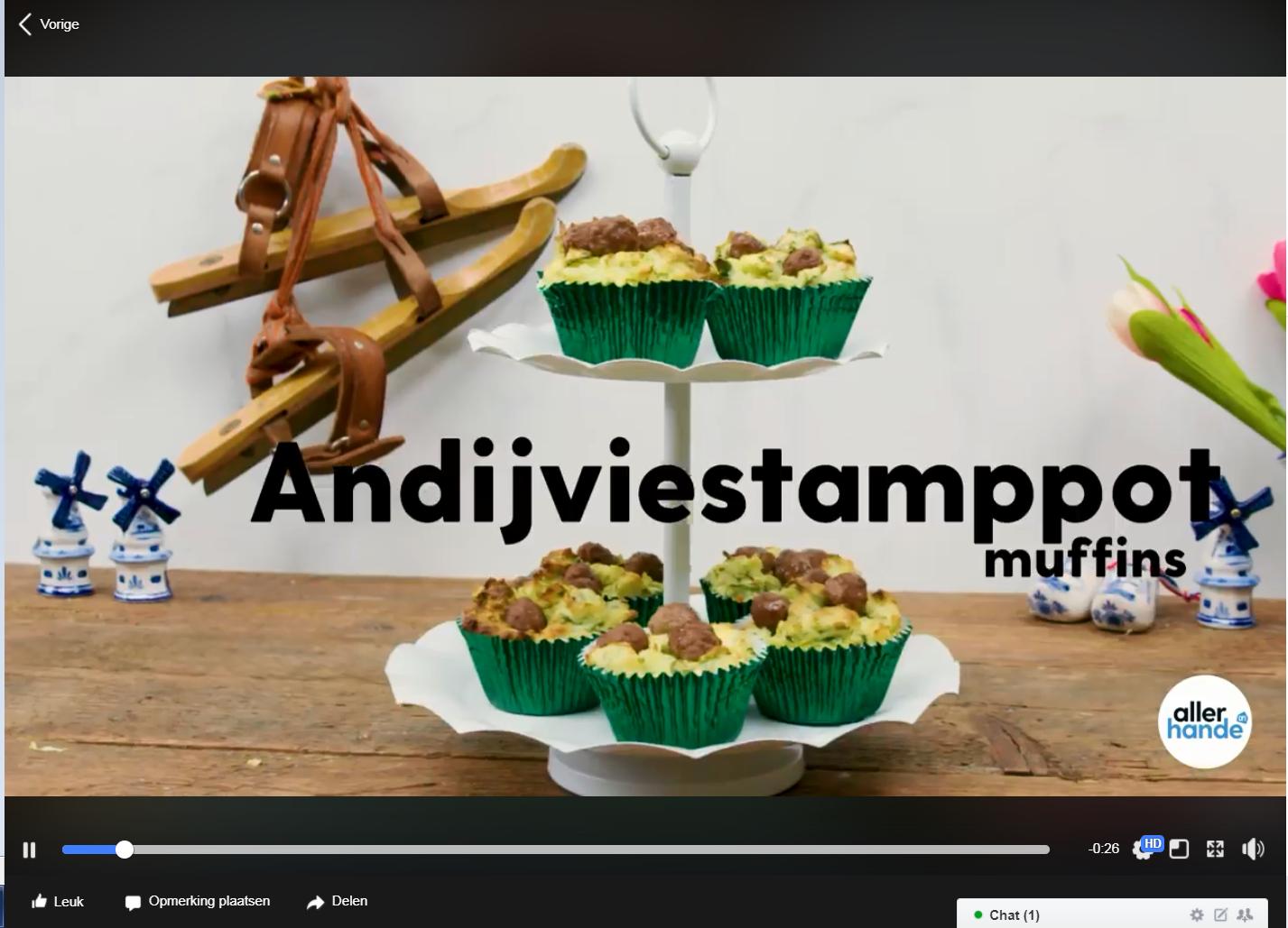 Deze andijviestamppot muffins helpen ons nog door de laatste koude dagen..
