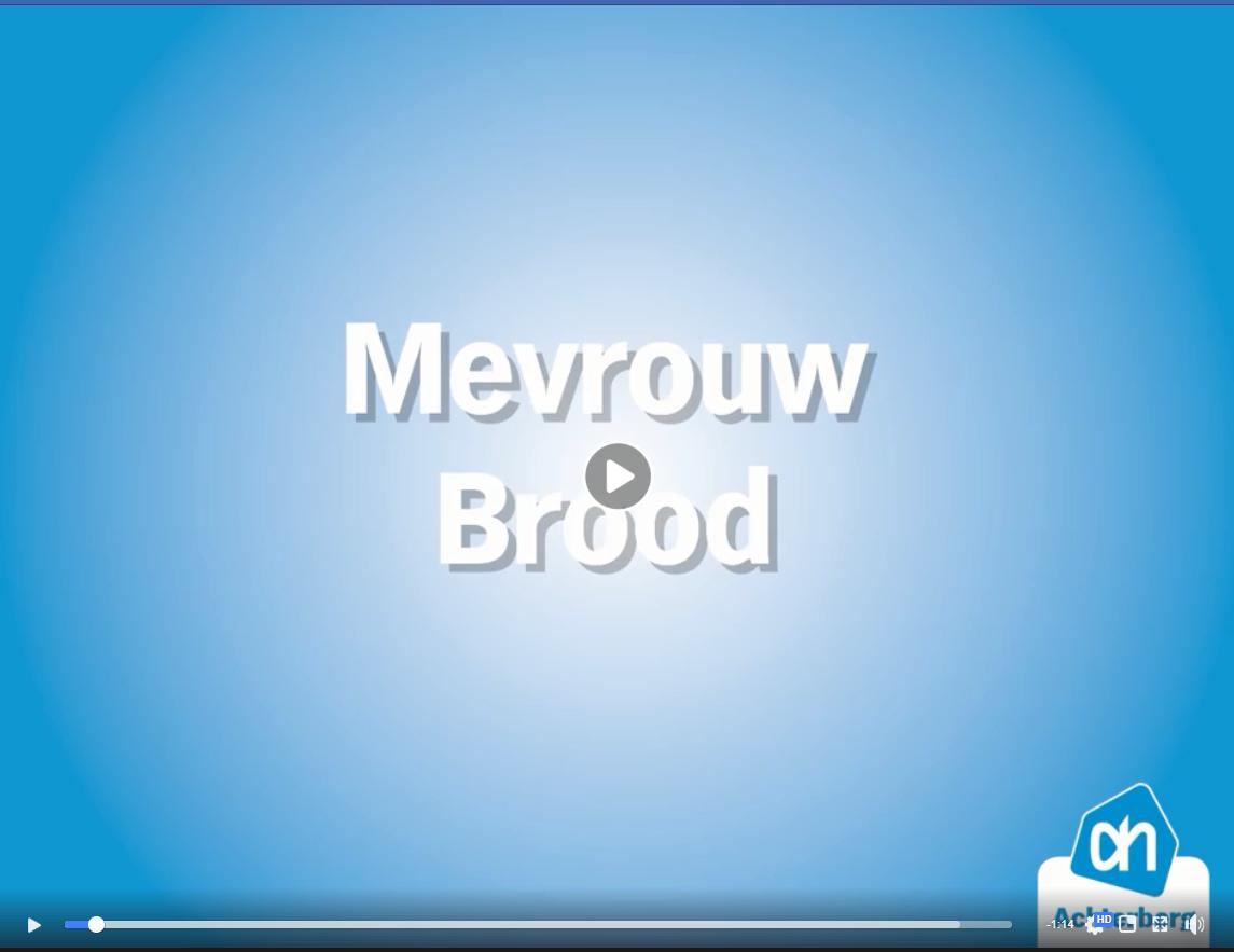 Mevrouw Brood heeft 1 minuut gratis mogen winkelen!