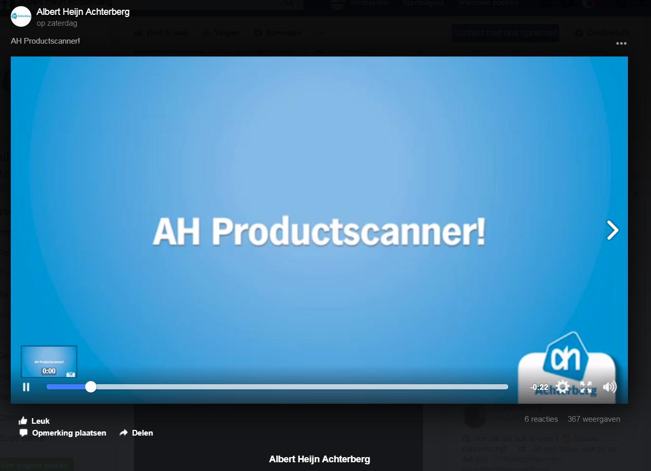Heb jij wel eens gebruik gemaakt van onze AH productscanner?